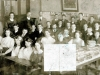 Jacksdale School 1912 Courtesy AP Tansey. Staff are Miss Preston, Mr Stringfellow (head) & Mr Storer