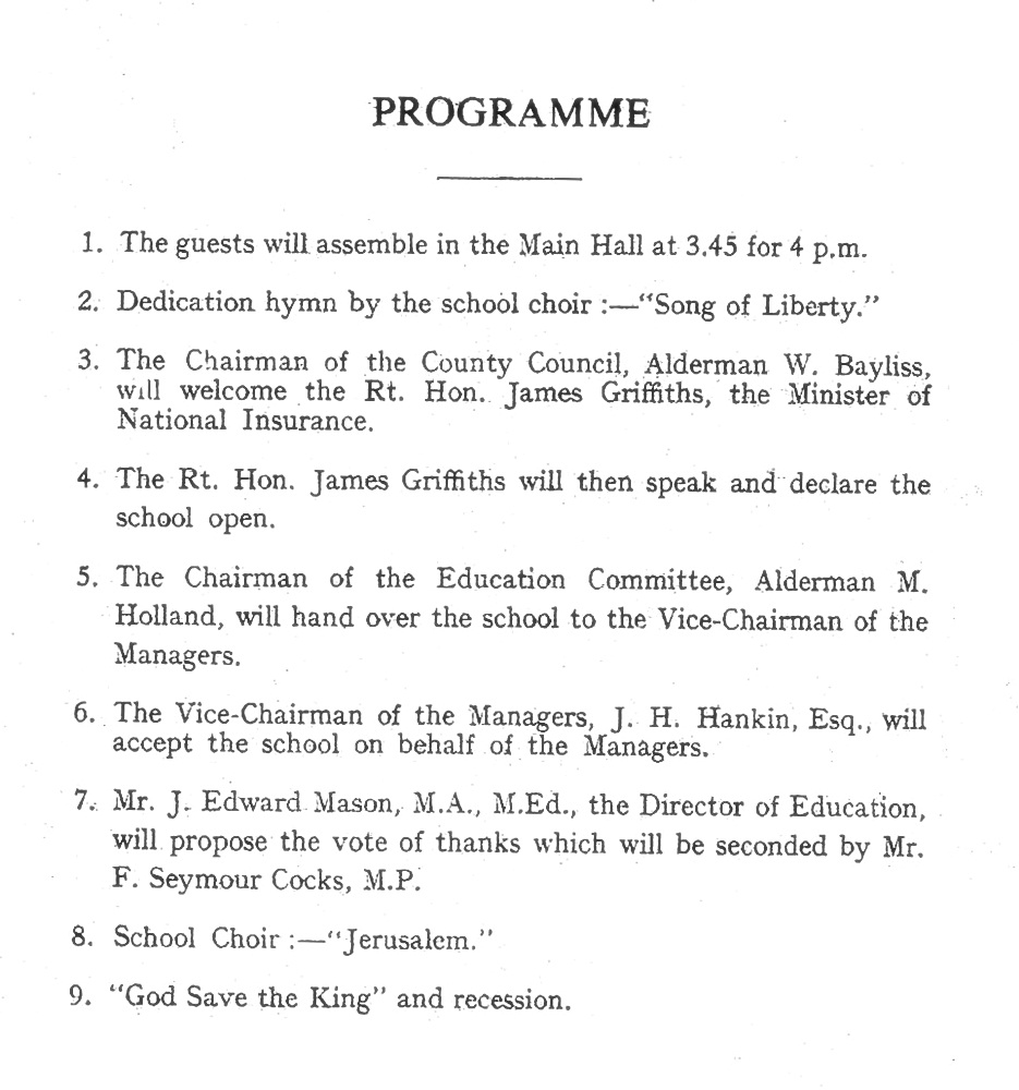 1946 Opening ceremony programme