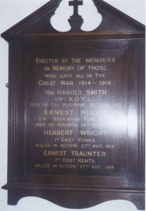 Roll of Honour in Ironville, Christchurch