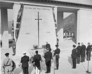 Unveiling of Sai Wan Memorial 20/02/55 (Image from CWGC)